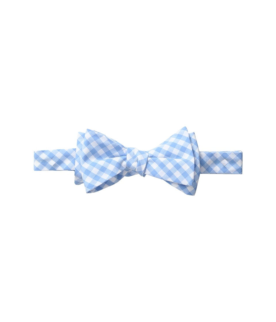 Vineyard Vines - Elmont Gingham Woven Bow (Ocean Breeze) Ties