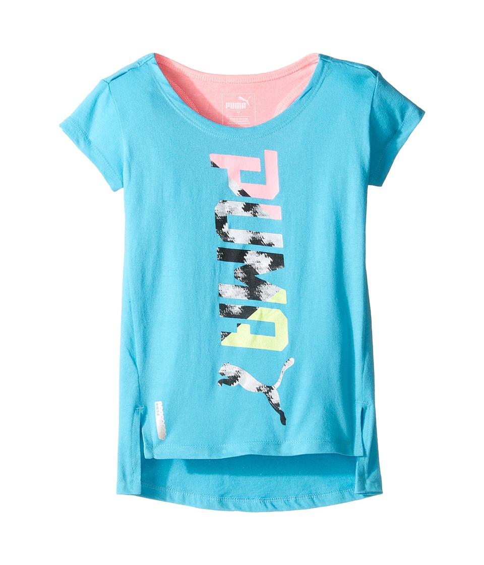 Puma Kids - Cap Sleeve Top (Little Kids) (Blue Atoll) Girl's Clothing