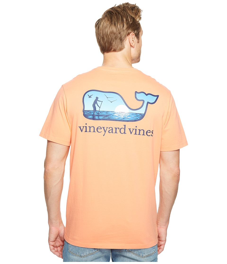 Vineyard Vines - Short Sleeve Paddle Board Whale Pocket Tee (Sunrise) Men's T Shirt