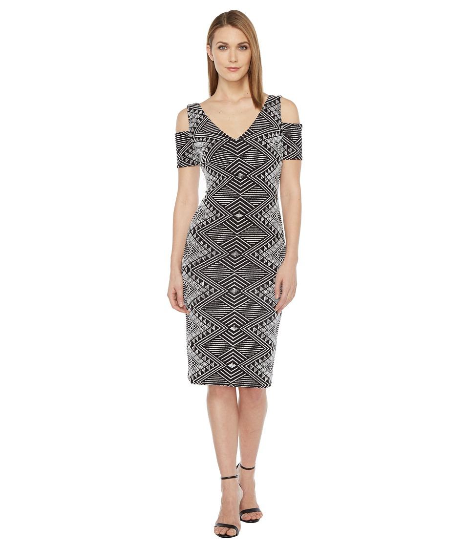 rsvp Sleeveless Short Dress (Black/Ivory) Women
