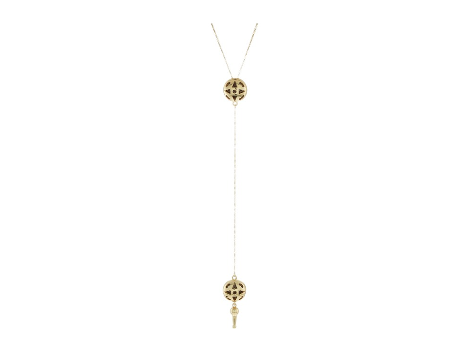 House of Harlow 1960 - Ayita Drop Pendant Necklace (Gold) Necklace