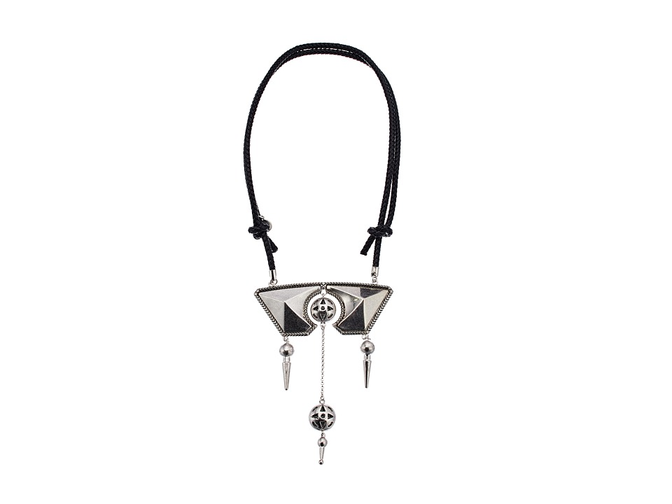 House of Harlow 1960 - Ayita Statement Necklace (Silver) Necklace