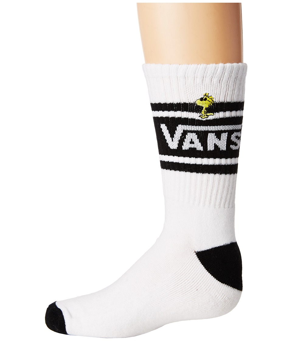 Vans - Peanuts Girl Gang Crew 1-Pack (White/Black) Women's Crew Cut Socks Shoes