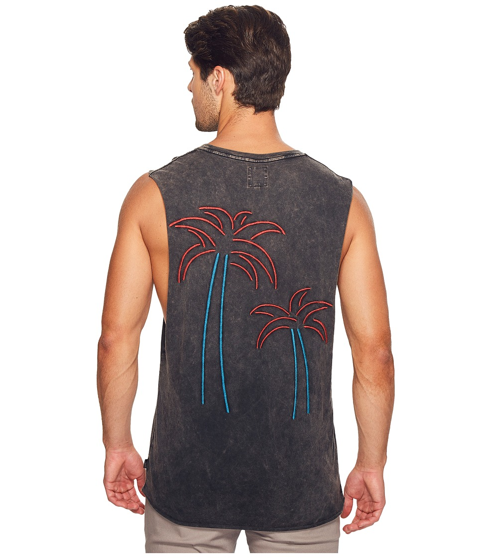 nANA jUDY - The Hotel California Tank Palms Embroidery Series (Vintage Black Tank) Men's T Shirt