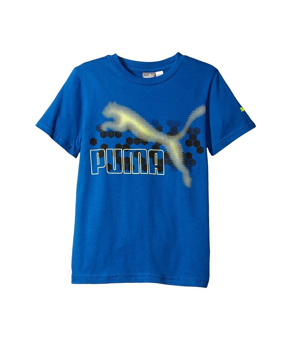 Puma Kids - Graphic PUMA Tee Sock Set (Big Kids) (True Blue) Boy's Active Sets