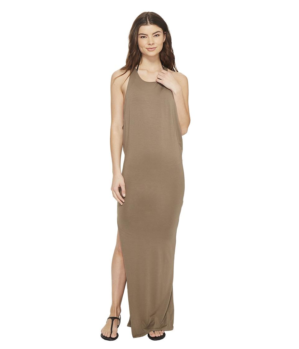MIKOH SWIMWEAR - Mavericks High Neck Maxi Dress (Bark) Women's Dress