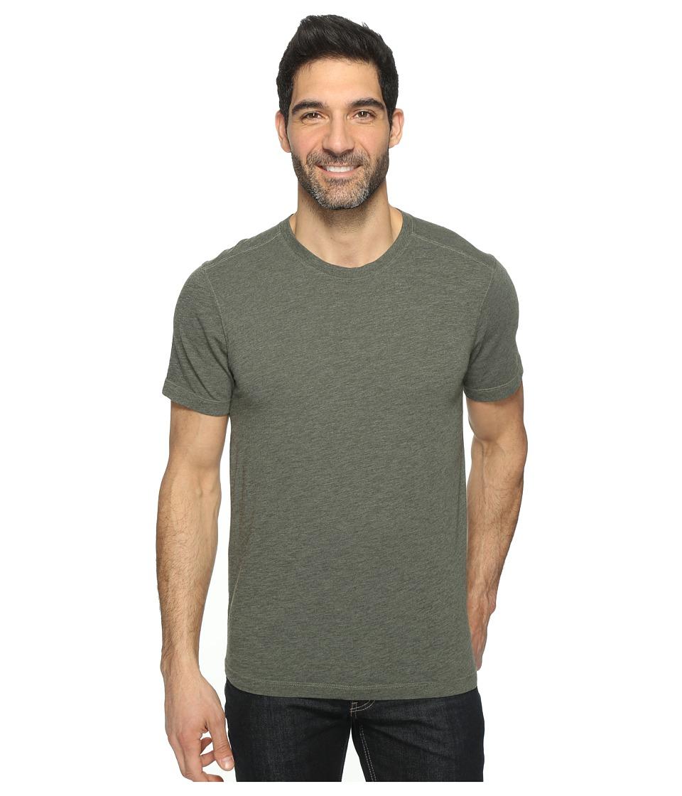 Agave Denim - Mickey Short Sleeve Crew Tri-Blend Jersey (Deep Lichen Green) Men's Clothing