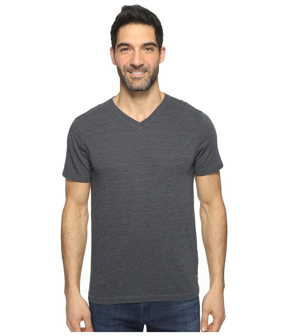 Agave Denim - Hal Short Sleeve V-Neck Tri-Blend Jersey Stripe Block (Ombre Blue) Men's Clothing