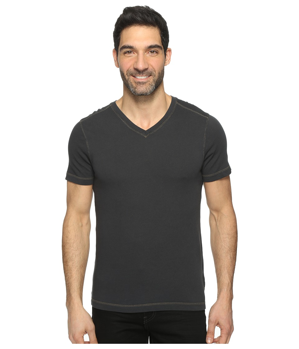Agave Denim - Rusty Short Sleeve V-Neck Tee (Stretch Limo) Men's Clothing