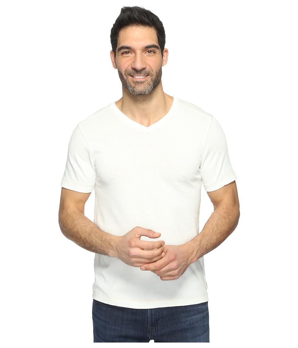 Agave Denim - Rusty Short Sleeve V-Neck Tee (White) Men's Clothing