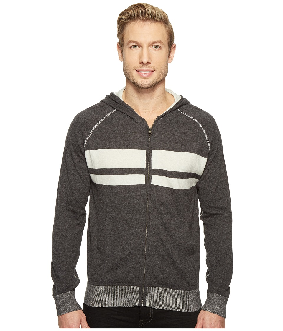 Agave Denim - Dorian 100% Supima Fine Gauge Hoodie (Charcoal) Men's Sweater