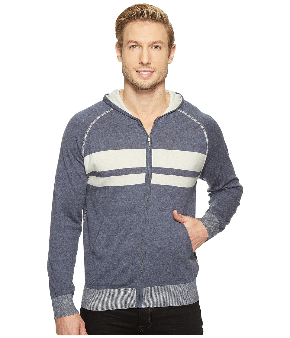 Agave Denim - Dorian 100% Supima Fine Gauge Hoodie (Ombre Blue) Men's Sweater