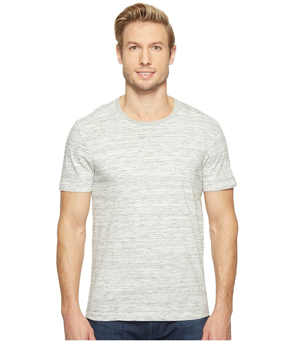 Agave Denim Leroy Short Sleeve Crew Marble Stripe (Heather Gray) Men's Long Sleeve Pullover