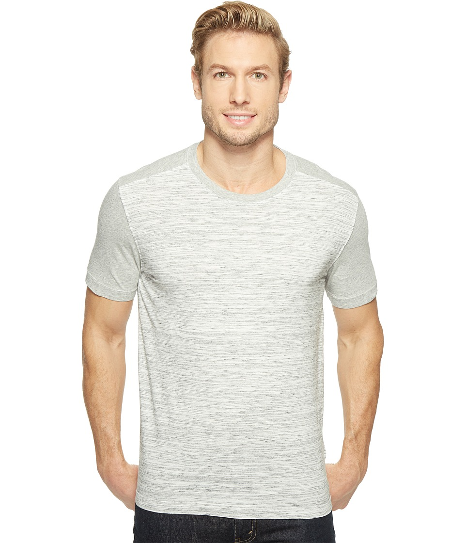 Agave Denim Chuck Short Sleeve Crew Neck Blocked Marble Stripe (Heather Gray) Men's Long Sleeve Pullover