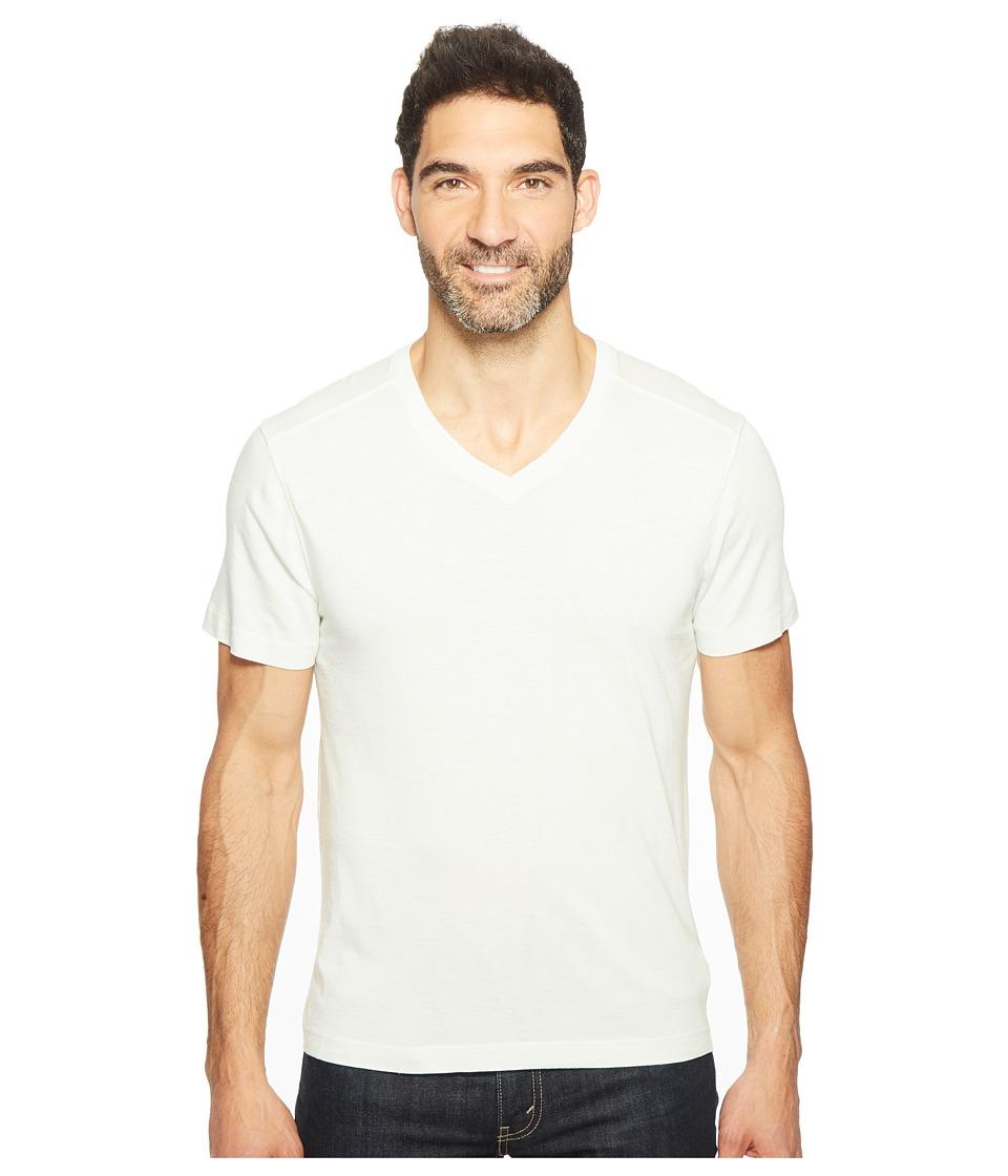 Agave Denim - Kerbox Short Sleeve V-Neck Supima Modal (Green Tint) Men's Short Sleeve Pullover