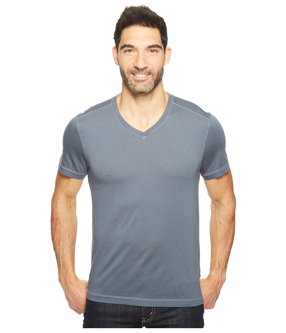 Agave Denim - Kerbox Short Sleeve V-Neck Supima Modal (Ombre Blue) Men's Short Sleeve Pullover