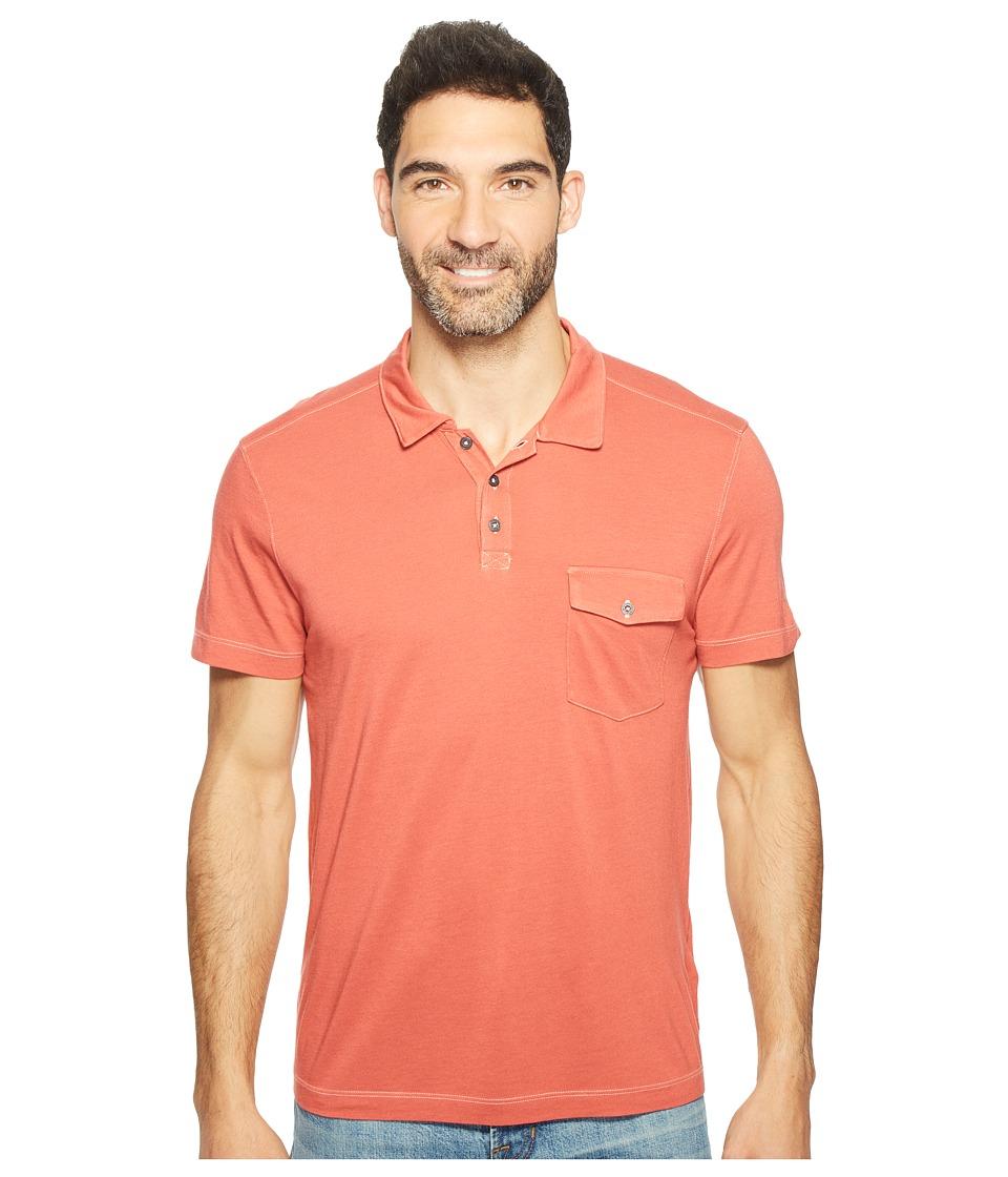 Agave Denim - Spicoli Short Sleeve Rugby Polo Supima Modal (Tandoori Spice) Men's Short Sleeve Pullover