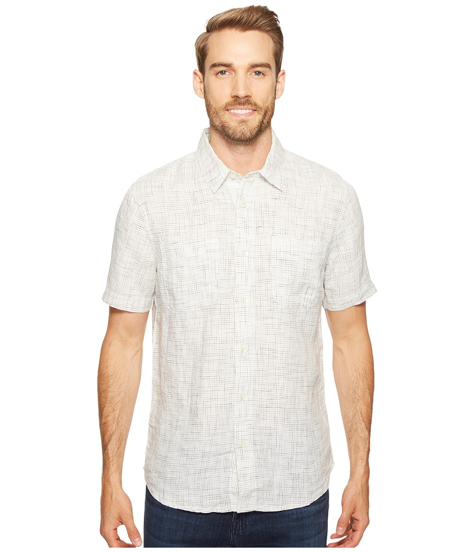 Agave Denim - Short Sleeve Woven Flotsam Jetsam (White Combo) Men's Short Sleeve Pullover