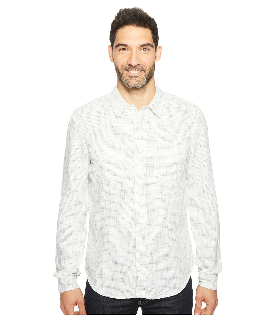 Agave Denim Long Sleeve Woven Flotsam Jetsam (White Combo) Men's Long Sleeve Pullover