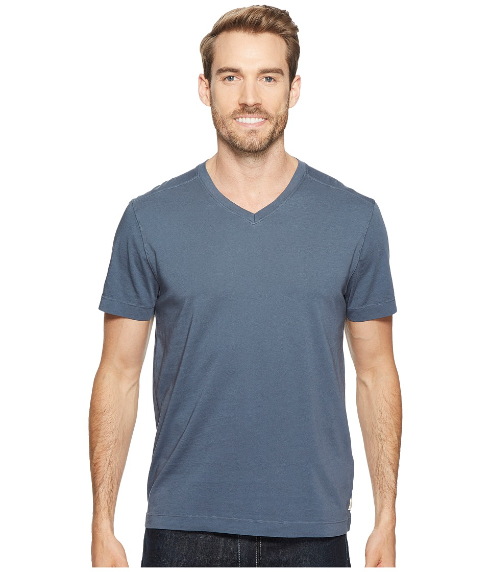 Agave Denim Agave Supima Vee Neck Short Sleeve Tee (Ombre Blue) Men's T Shirt