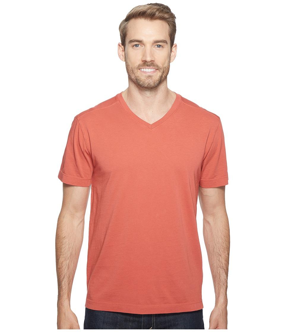 Agave Denim Agave Supima Vee Neck Short Sleeve Tee (Tandoori Spice) Men's T Shirt