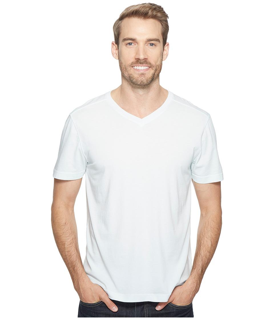 Agave Denim - Agave Supima Vee Neck Short Sleeve Tee (Wan Blue) Men's T Shirt