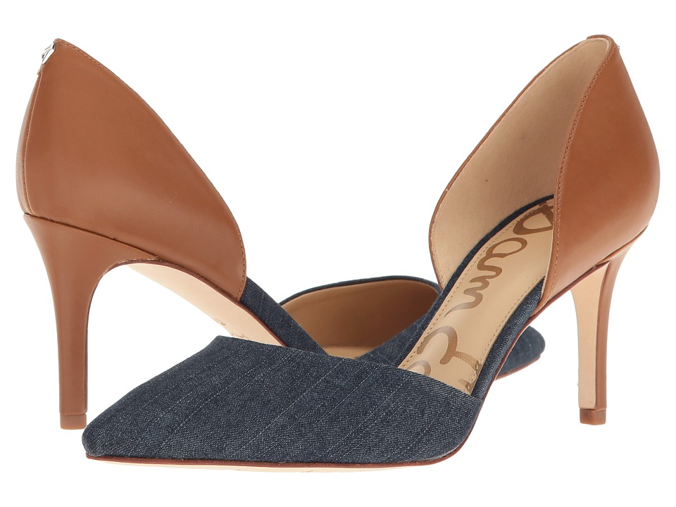 Sam Edelman - Telsa (Navy/Saddle Denim Leather) Women's Shoes