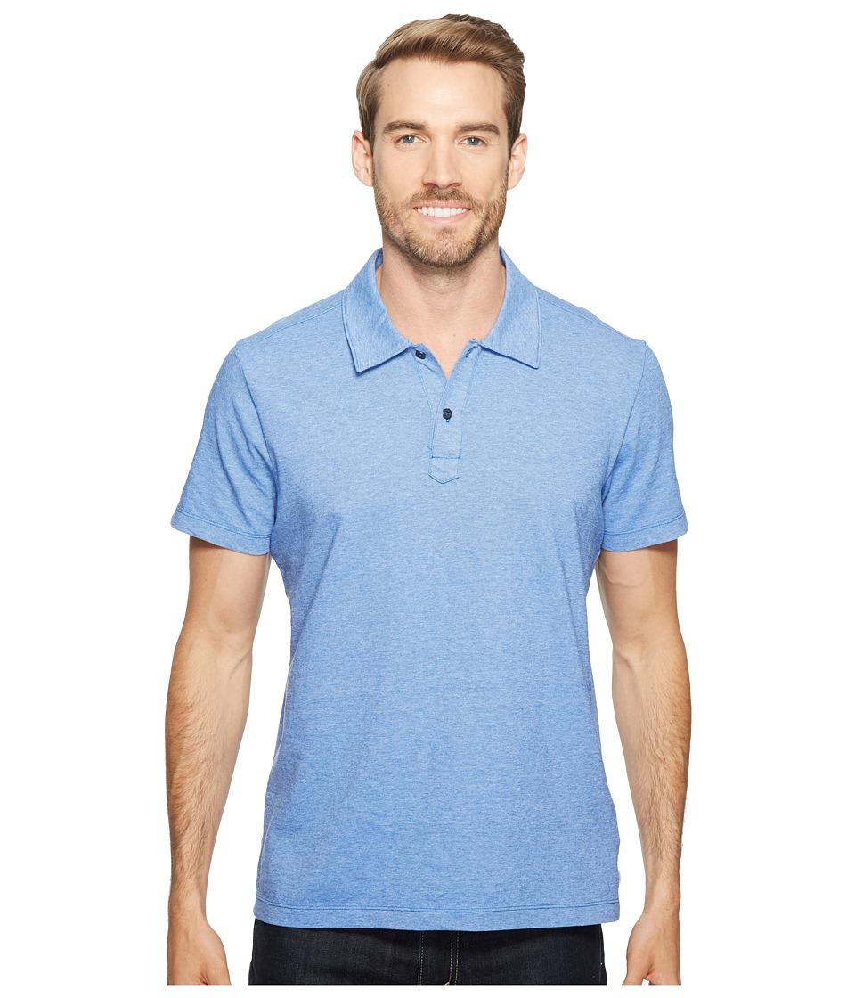 Agave Denim - Short Sleeve Polo Italian Pique in Chambray (Chambray) Men's Clothing