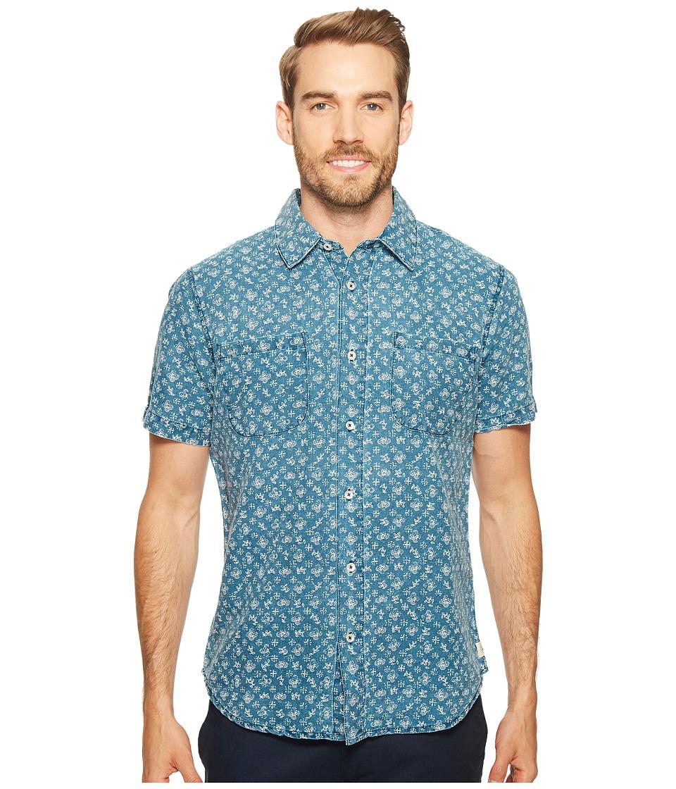 Agave Denim - Bougainvillea Vine Short Sleeve Button Up (Indigo Fade) Men's Short Sleeve Button Up