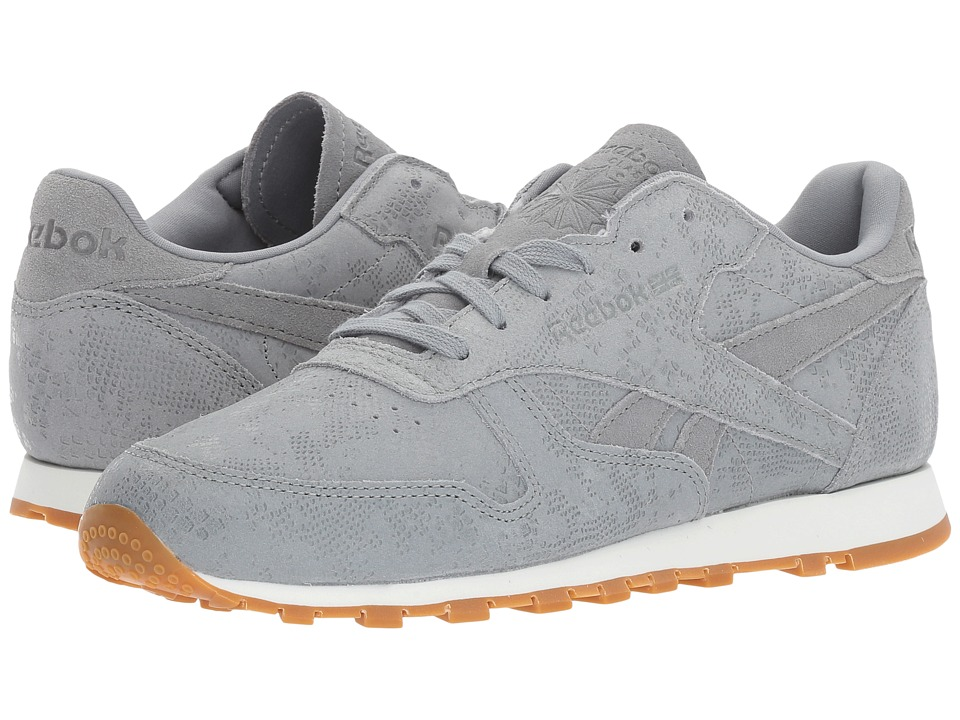 Reebok Lifestyle Classic Leather Exotic Print (Flint Grey/Chalk) Women