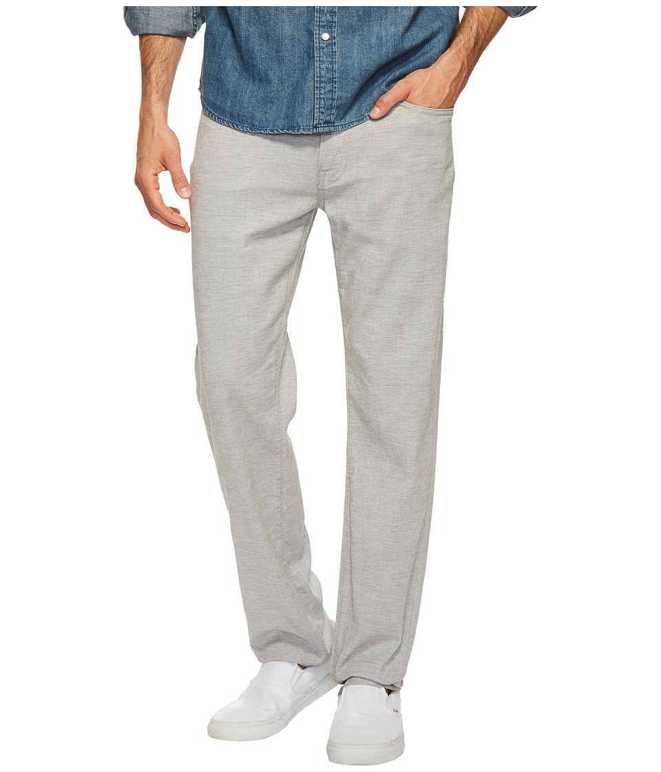 Agave Denim - Classic Straight Coco Melange Twill in Zinc (Zinc) Men's Clothing