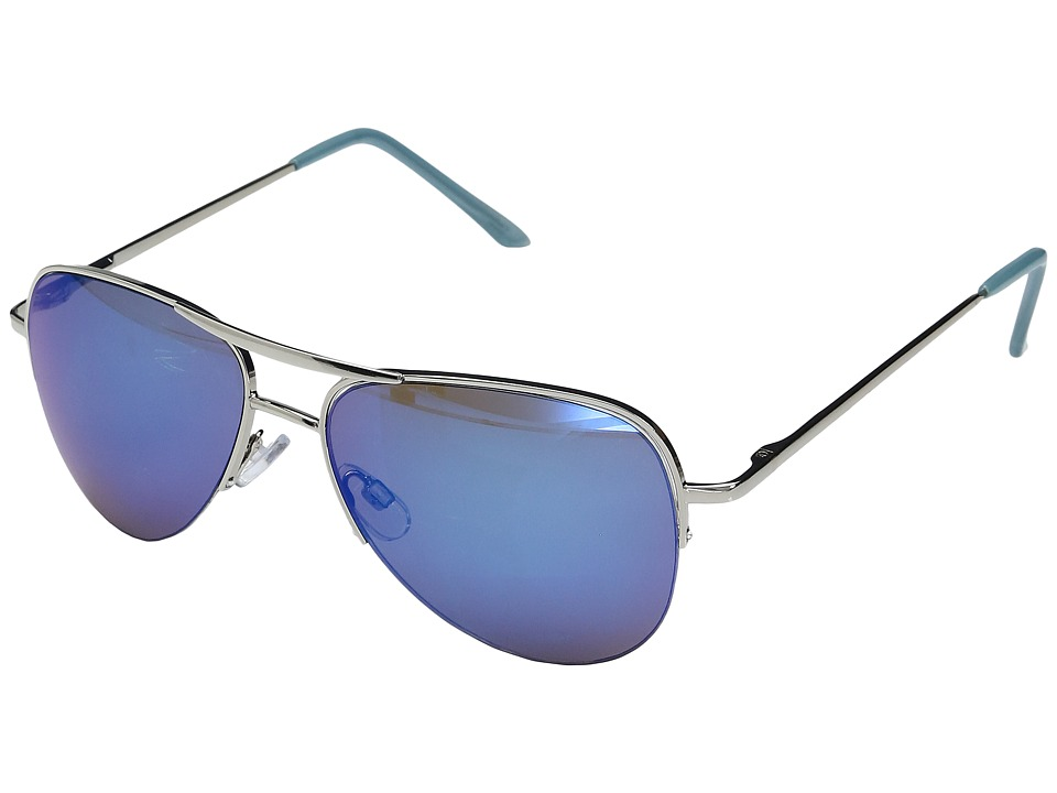 Steve Madden - Igor (Silver/Blue) Fashion Sunglasses