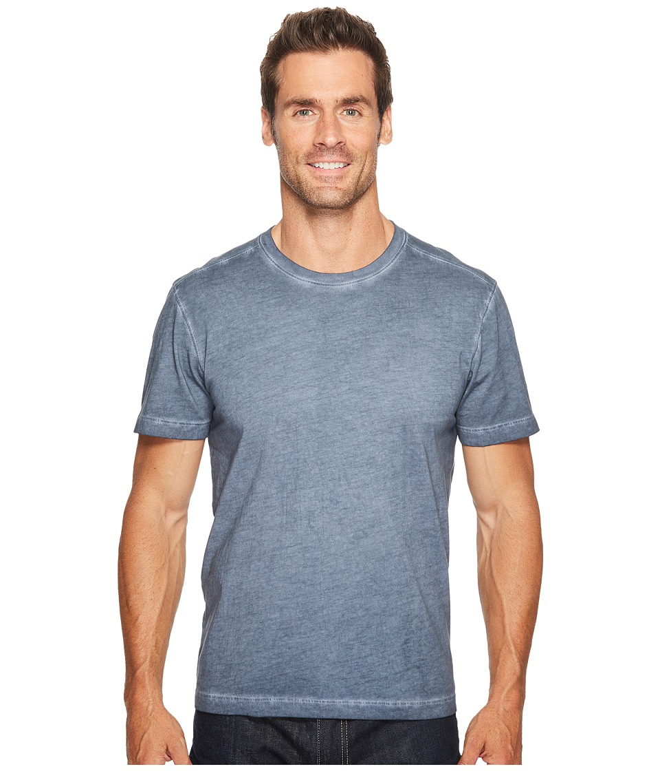 Agave Denim - Shawn Short Sleeve Crew Antique Wash (Ombre Blue) Men's T Shirt