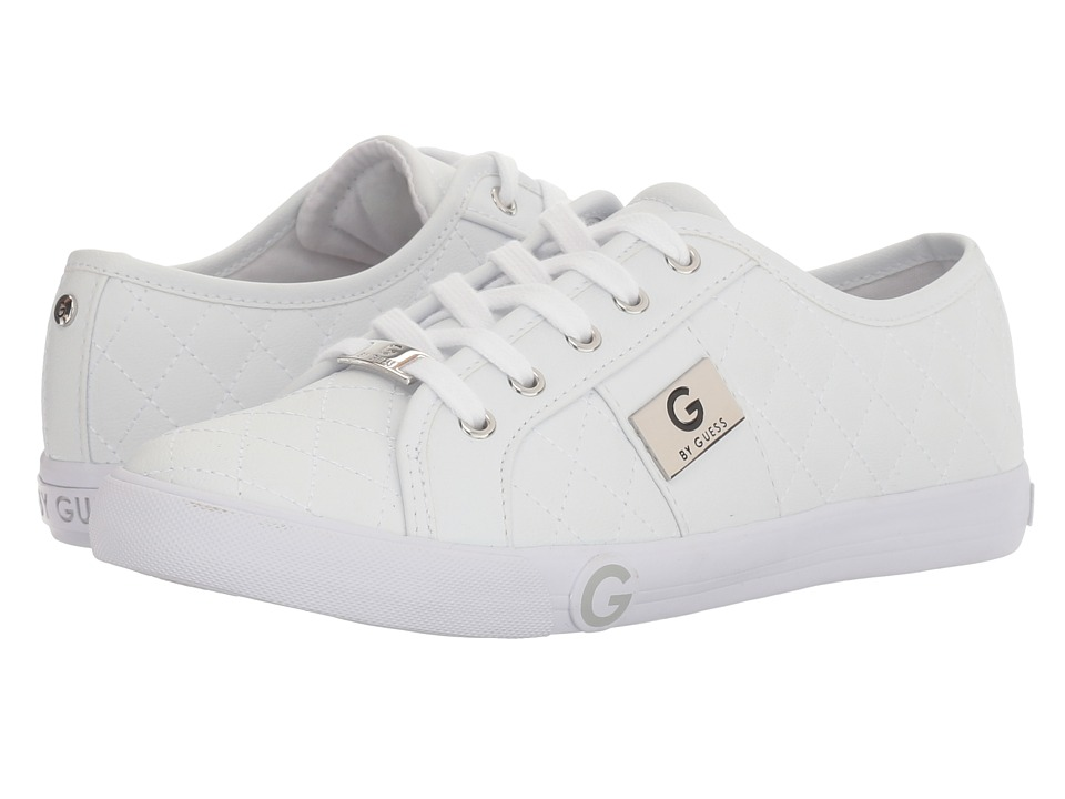G by GUESS Byrone (White/Silver) Women