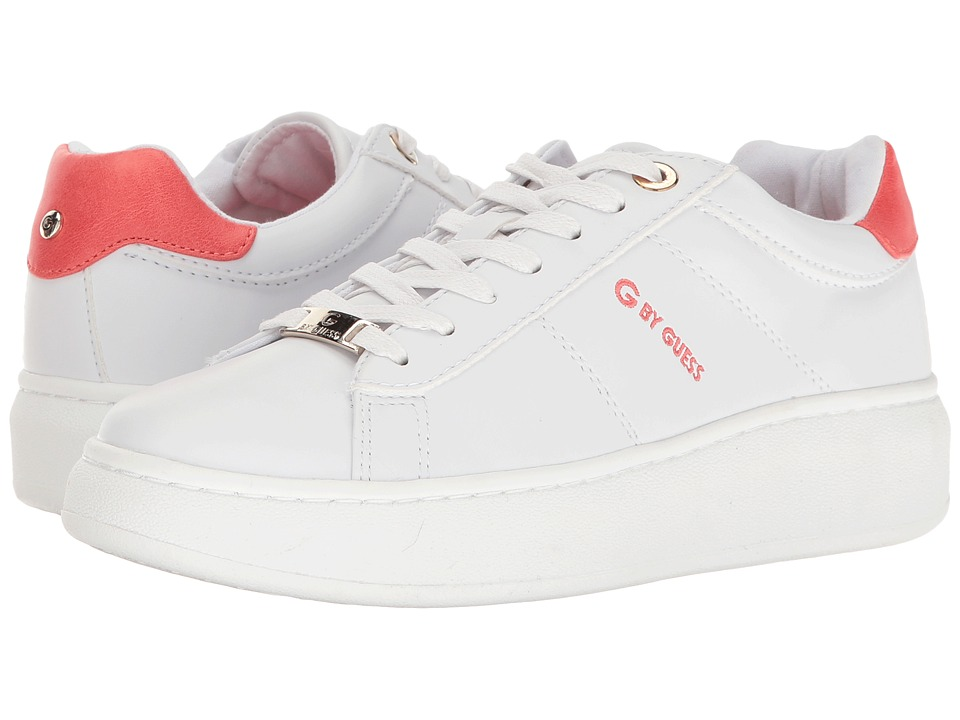 G by GUESS Charly (White/Coral) Women