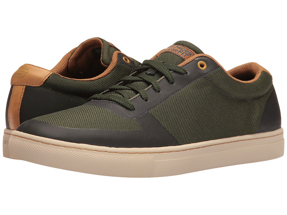 SKECHERS - Elvino (Green Nylon) Men's Lace up casual Shoes