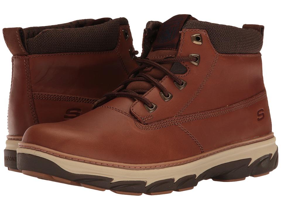 SKECHERS Resement Verex (Tan Leather) Men