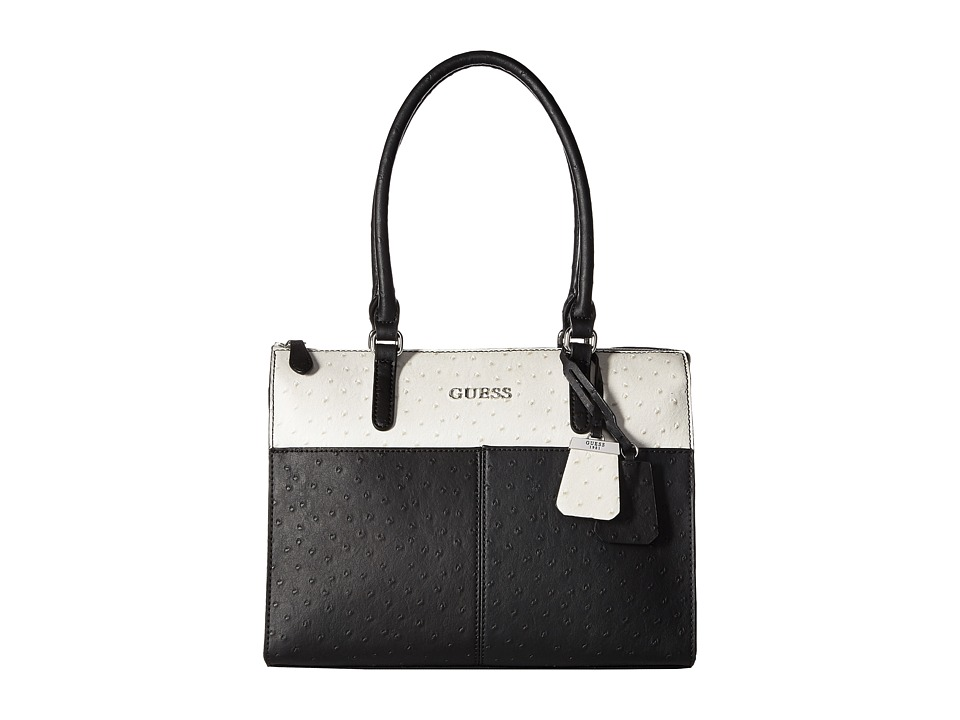 GUESS - Tillman Satchel (Black Multi) Satchel Handbags