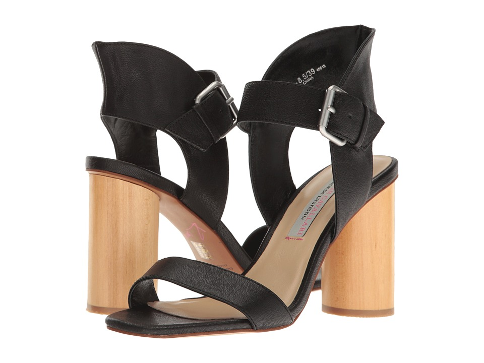 Kristin Cavallari - Locator Leather Heeled Sandal (Black) Women's Shoes