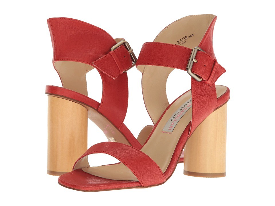 Kristin Cavallari - Locator Leather Heeled Sandal (Red) Women's Shoes