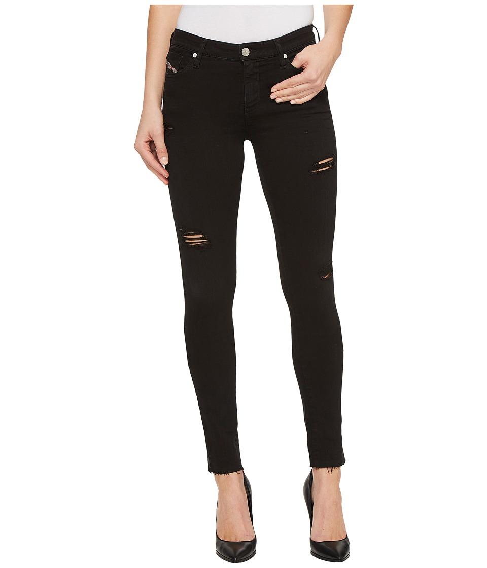 Diesel - Skinzee L.32 Trousers 84EX (Black) Women's Jeans