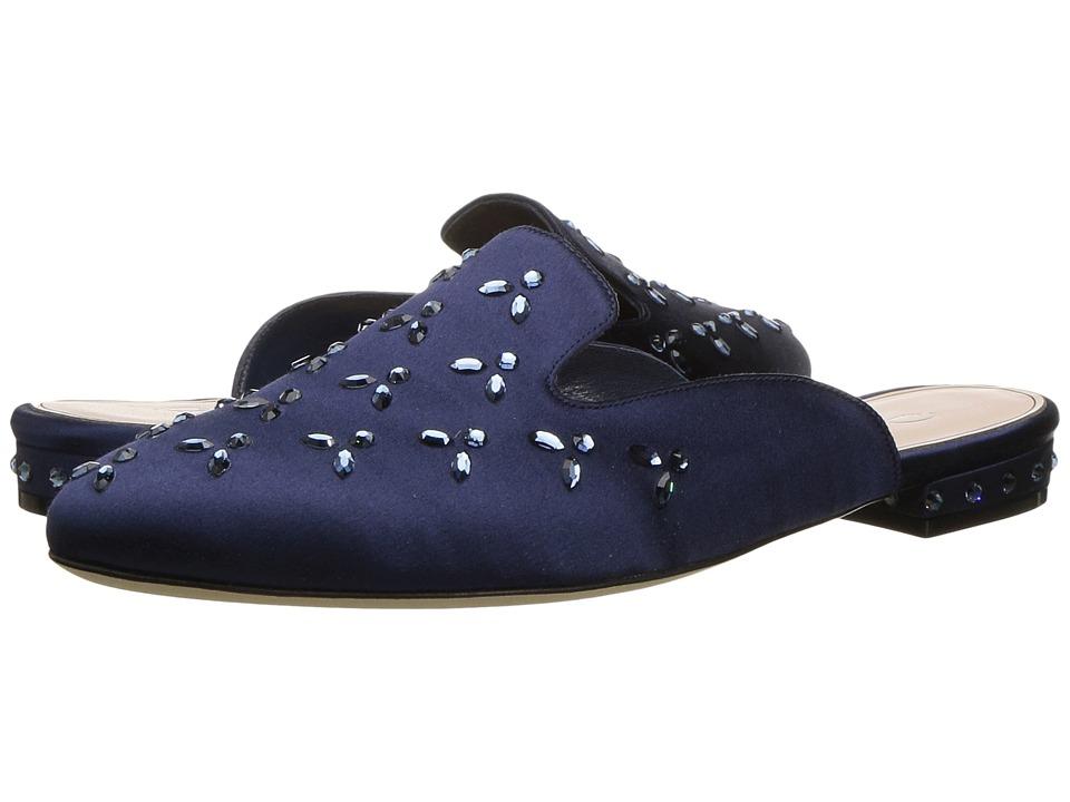 Oscar de la Renta - Audrey (Navy Satin/Crystals) Women's Shoes