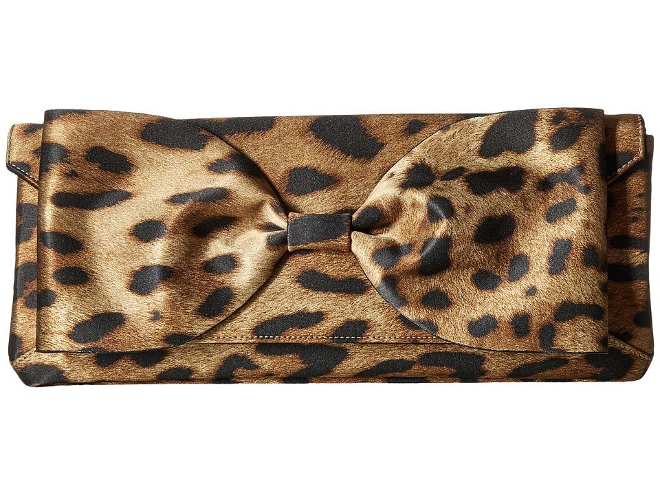 Oscar de la Renta - Bow Envelope Clutch (Leopard) Handbags