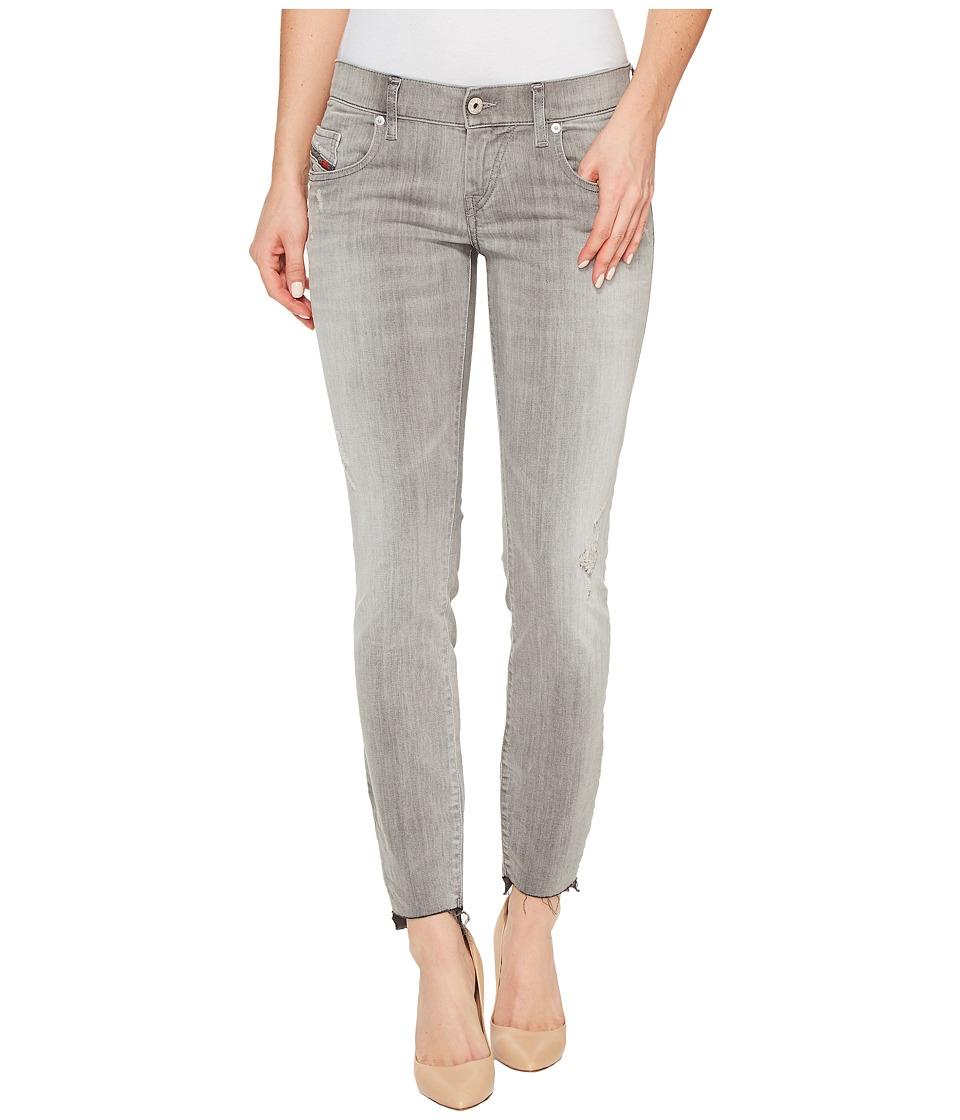 Diesel - Grupee-Ankle-C2 L.32 Trousers 682Z (Black Denim) Women's Jeans