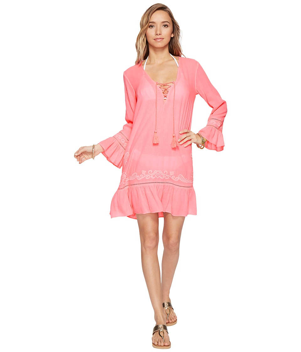 Lilly Pulitzer - Tallulah Cover-Up (Tiki Pink) Women's Swimwear