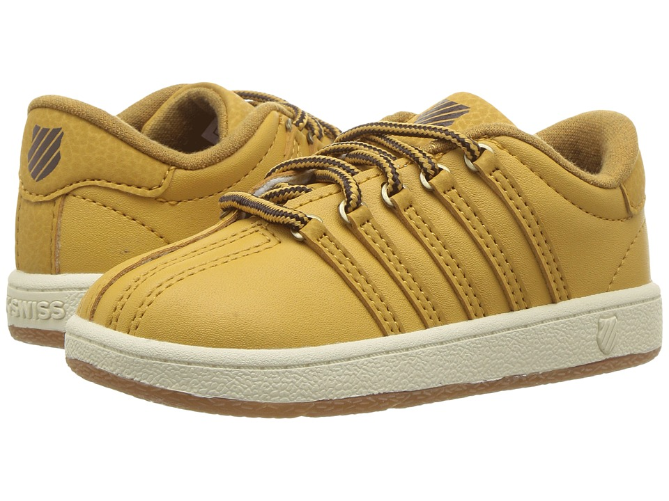 K-Swiss Kids - Classic VN (Infant/Toddler) (Amber Gold/Chocolate/Antique White) Kids Shoes