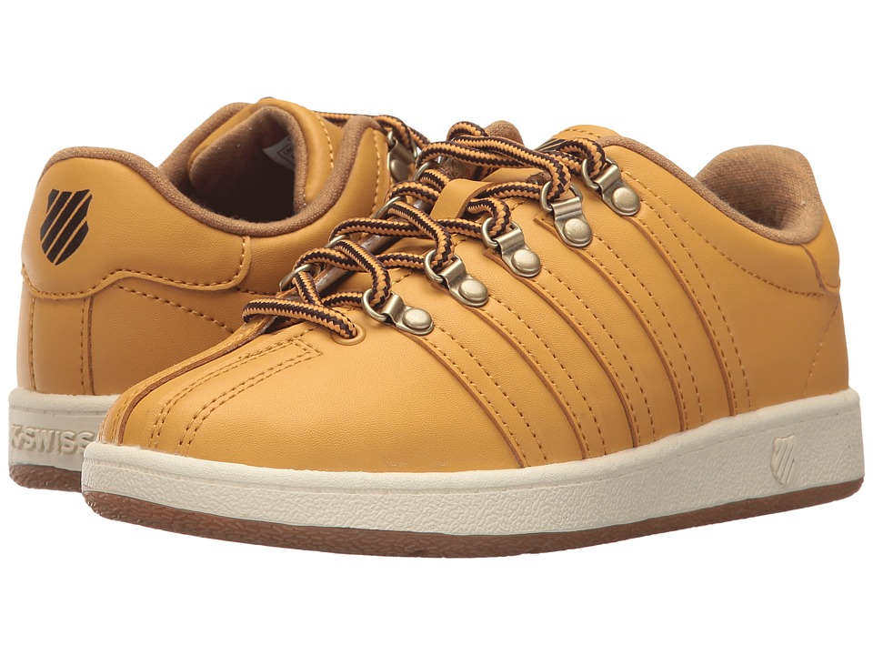 K-Swiss Kids - Classic VN (Little Kid) (Amber Gold/Chocolate/Antique White) Kids Shoes