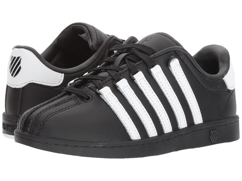 K-Swiss Kids - Classic VN (Little Kid) (Black/White/White) Kids Shoes