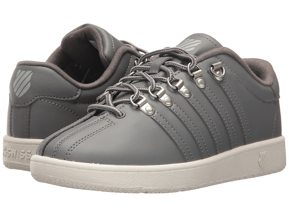 K-Swiss Kids - Classic VN (Big Kid) (Charcoal/Storm/Lily White) Kids Shoes
