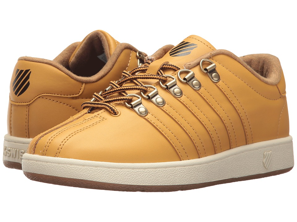 K-Swiss Kids - Classic VN (Big Kid) (Amber Gold/Chocolate/Antique White) Kids Shoes